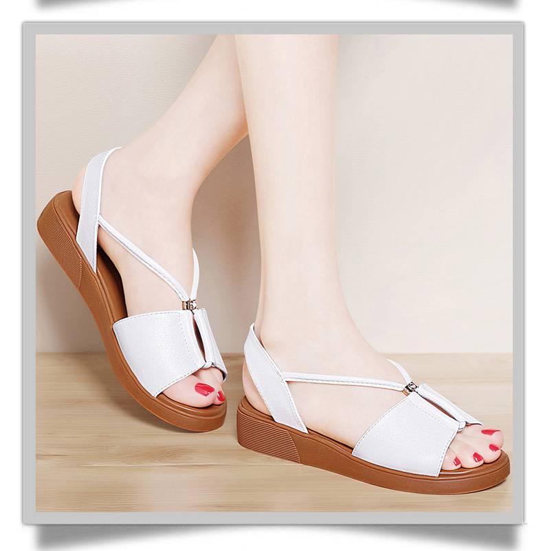 2017夏季新款女鞋韩版平底学生鞋子女罗马鞋夏天平跟凉鞋