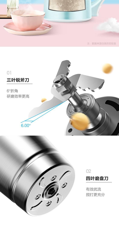 美的 豆浆机 家用全自动免滤多功能 牛奶 豆浆机图片