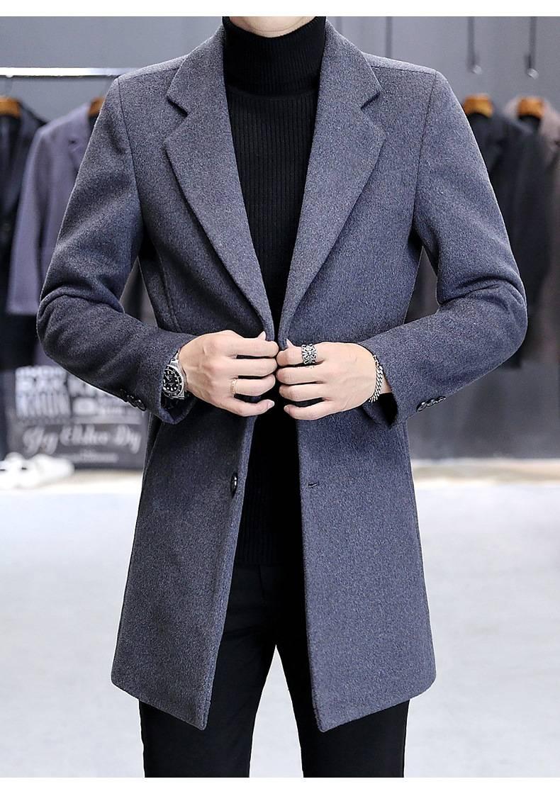 与毛呢大衣搭配图片男