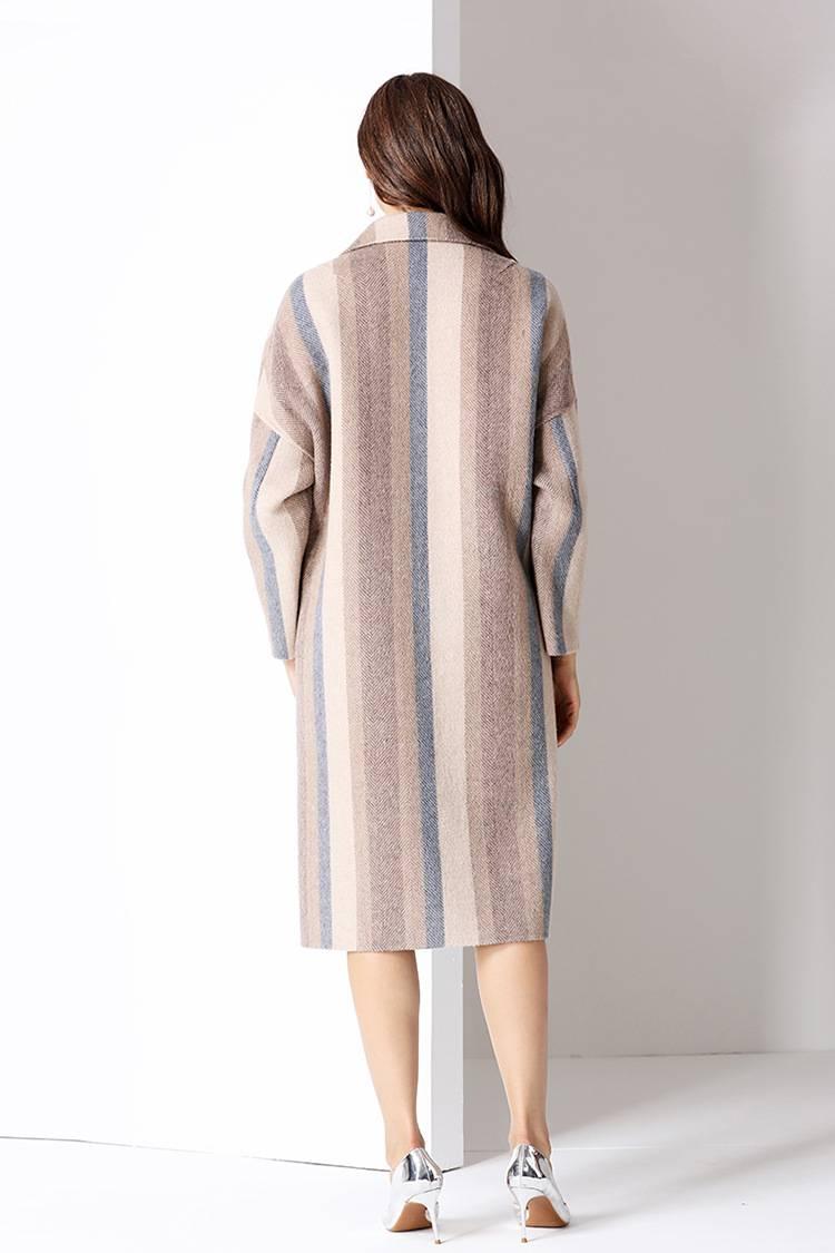 卡索女装货源益华彩菲双面羊绒大衣毛呢图片