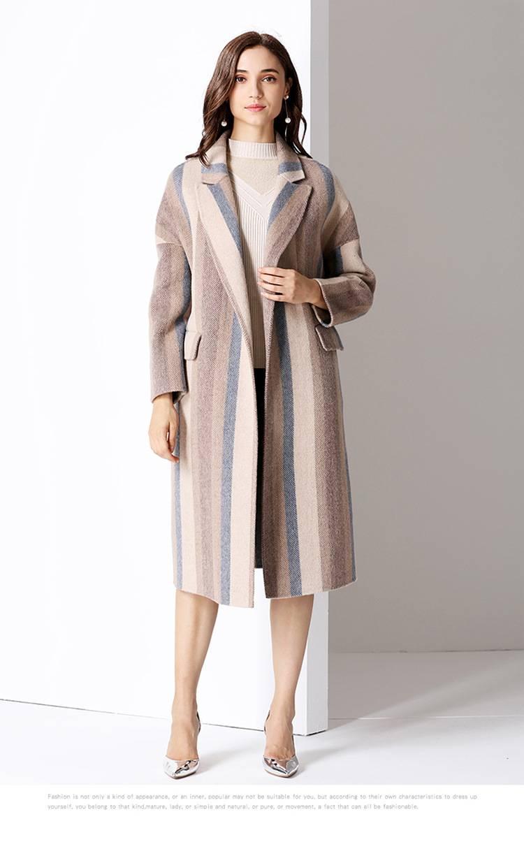 铁路羊毛女大衣款式