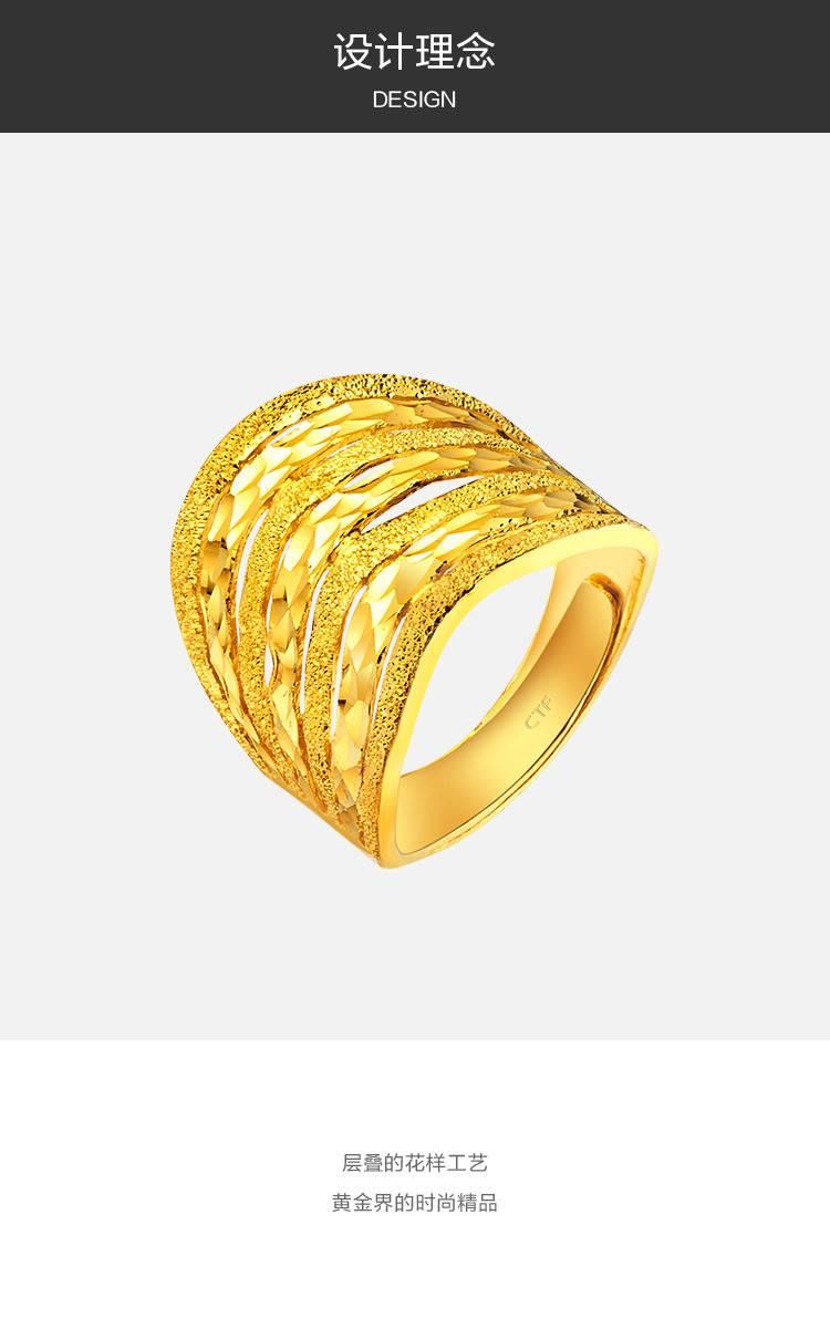 男款黄金实心戒指