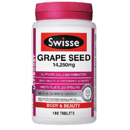 Swisse Grape Seed 葡萄籽 180粒 X 2图片