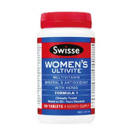 Swisse Womens Ultivite Tablet F1 女士复合维生素 120粒 X 3