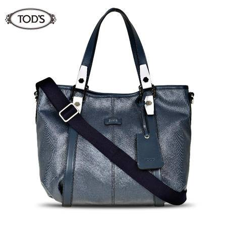 TODS G LINE HOBO SMALL 手提包#蓝灰
