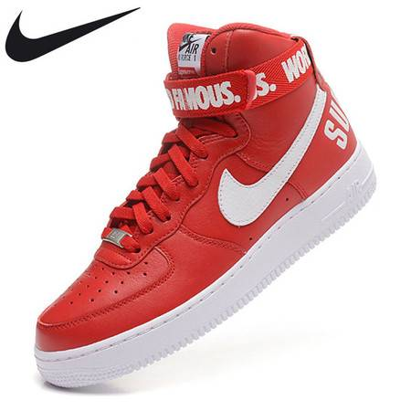 耐克男鞋SUPREME AF1 NIKE AIR FORCE 1 HIGH 07 空军一号男子板鞋