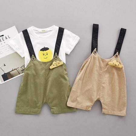 小男童背带裤套装儿童男宝宝夏季两件套图片大全 邮乐官方网站