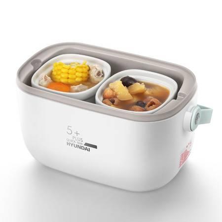 韩国现代(HYUNDAI)电热饭盒便捷式电炖盅隔水炖煲汤陶瓷白瓷煮粥QC-FH603