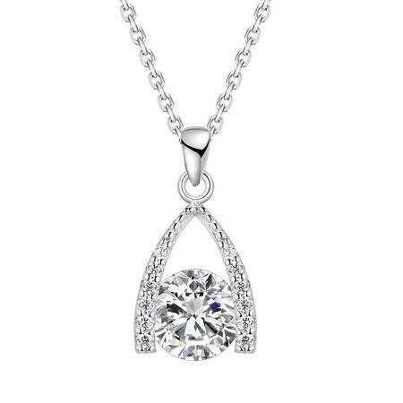 阿菲娜 日韓簡約 925純銀 女士項鏈、鎖骨鏈 送女友禮物 AFP2052
