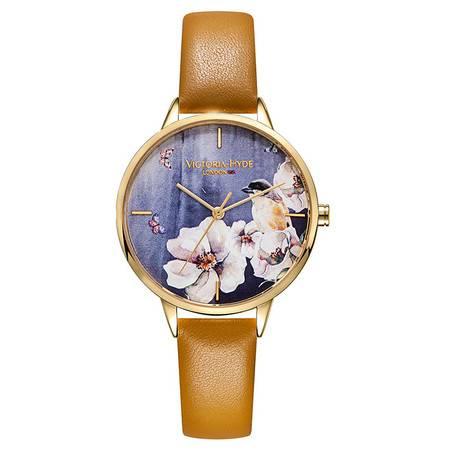 Victoria ? Hyde 帕克蘭系列 時尚潮流女士皮帶石英手表 腕表