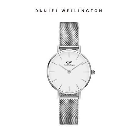 丹尼尔 惠灵顿 DW手表女表银色边金属表带28mm白盘欧美简约学生石英表DW00100220