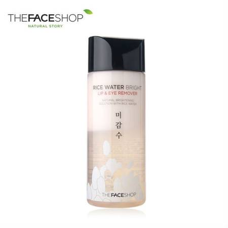 专柜正品 The Face Shop 米水亮透眼唇温和卸妆液120ml