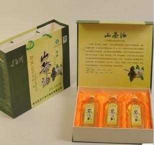 【浙江特产】千百川一级山茶油 天然健康食用油礼盒装2.2L(720ml*3瓶)