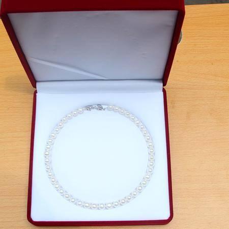 【浙江特产】开悦珍珠饰品项链直径8.3-9.3mm近圆无瑕