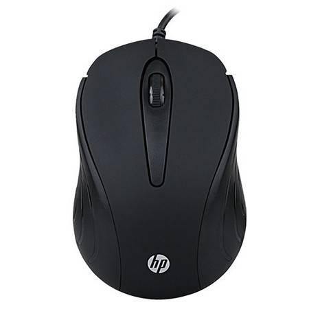 惠普 HP S300有线鼠标 usb电脑鼠标 黑 T7B40PA