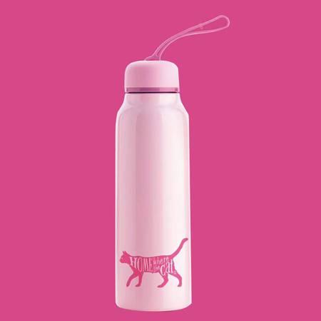 台湾Artiart创意便携水杯 波特保温杯 粉色 DRIN058P-CuteCat