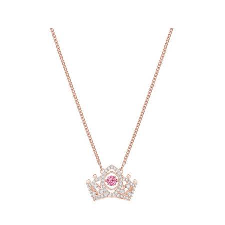 施华洛世奇女王皇冠BEE AQUEEN项链女锁骨链镀玫瑰金色5510986镀白金色5501080