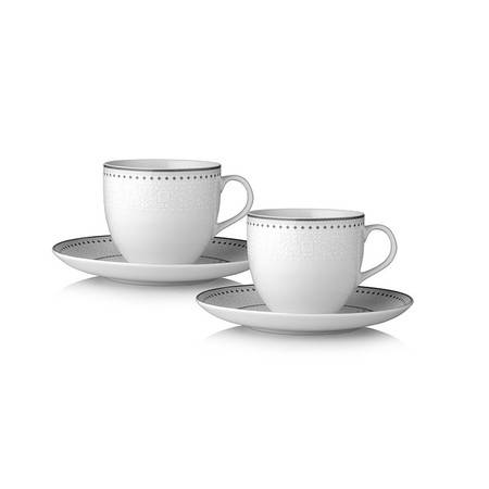 双立人 ZWILLING 白瓷餐具十件套(4个平盘、2个汤盘、2个茶杯、2个茶碟)ZW-W607