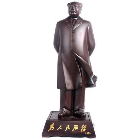 黑檀木毛主席摆件 精品雕像 木雕工艺品家居办公室桌面摆设