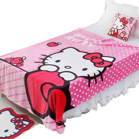 凯蒂猫/HELLOKITTY 法兰绒毛毯 珊瑚绒毯子大毛毯