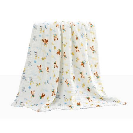 迪士尼Disney 宝宝浴巾 儿童浴巾 纱布无捻浴巾