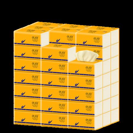 【40包】优特新款竹浆抽纸整箱家庭实惠装家用本色纸巾卫生纸餐面巾纸3层
