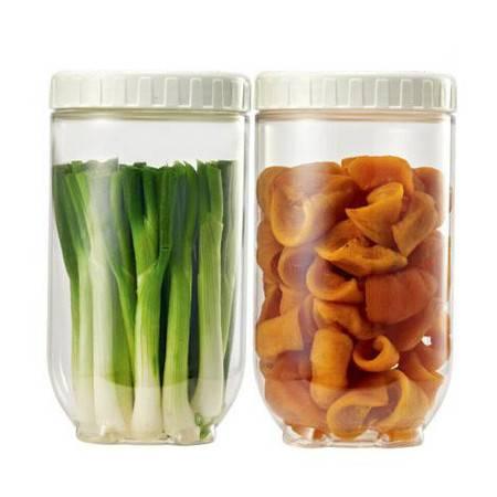 乐扣乐扣  储物罐收纳罐 冰箱侧门保鲜罐2件套(500ml*2)