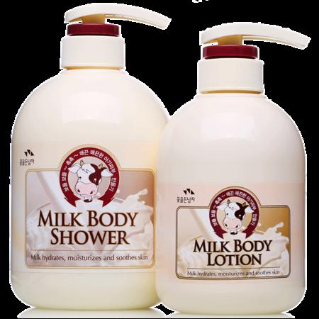 韩国进口所望牛奶沐浴露750ml +所望牛奶身体乳500ml