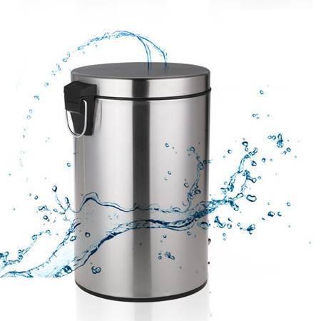 【919特惠】升级版高档静音缓降经典脚踏式圆形垃圾桶5升