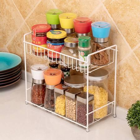 厨欲无限 家居浴室用品整理收纳架 双层调料架 厨房佐料罐酱油瓶调味架双层