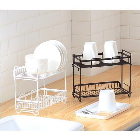 【1111特惠】2020百搭双层多功能调味料架家居卧室储物浴室沐浴露收纳架ZWJ001咖啡色白色可选