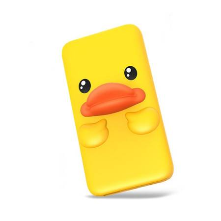 B.Duck小黄鸭充电宝大容量超薄10000毫安可爱创意卡通便携移动电源