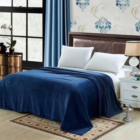 逸轩 素色法兰绒毯子保暖床单150*200CM