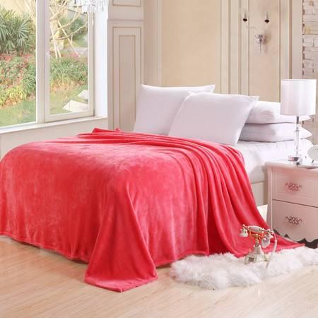 逸轩 素色法兰绒毯子保暖床单90*140CM
