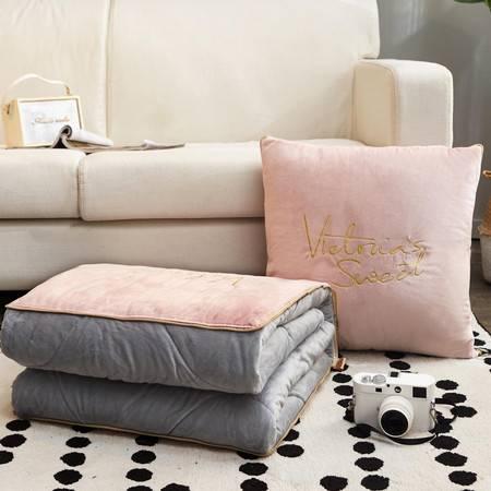 逸轩专卖 抱枕被子沙发办公室午休两用靠垫被50*50CM
