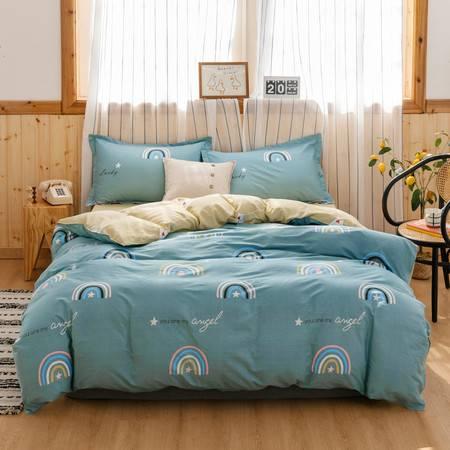 逸轩 北欧床上套件全棉纯棉简约床单四件套 1.5米/1.8米床用被套200*230cm