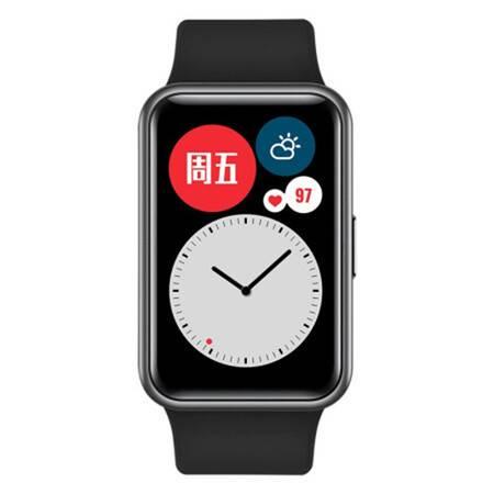 华为 WATCH FIT 华为手表 运动智能手表方形 时尚轻薄/华为快充/全屏触摸/专业运动