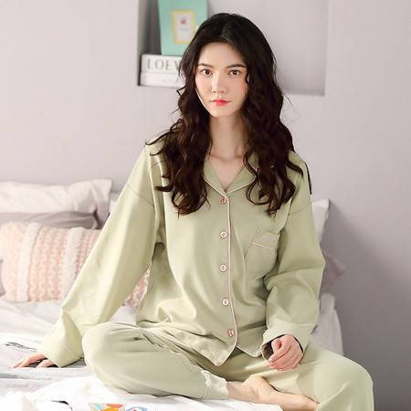 馨霓雅 春女款开衫纯色休闲家居服系列