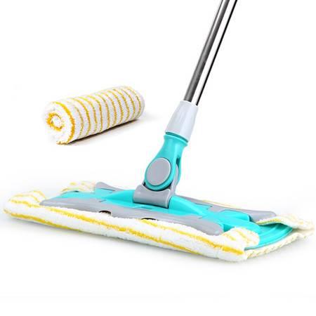 利临洁仕家用平板拖把木地板拖布尘推懒人平拖拖布头夹毛巾平板墩布