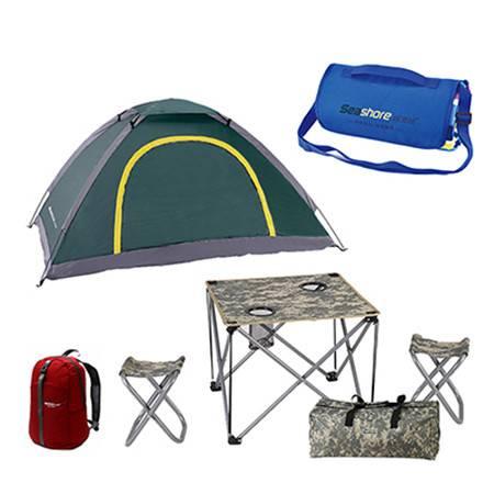 纵贯线  户外帐蓬套餐 野外野营露营帐篷套餐  户外休闲组套  六件套