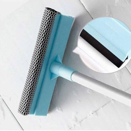 普润 手柄加长玻璃窗户刮水器海绵吸水玻璃清洁器双面擦窗器擦窗户清洁刷家用刮刷刮子