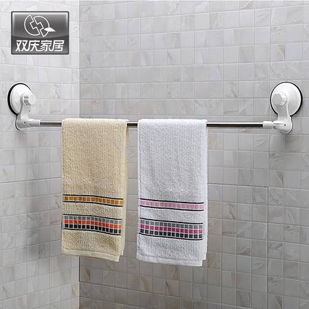 双庆 吸盘毛巾架吸盘毛巾杆毛巾挂毛巾置物架浴室单杆挂毛巾架1027免打孔单杆毛巾杆卫生间挂