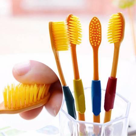 16支家庭装四色金头韩版牙刷纳米牙刷 双层软毛牙刷保健牙刷