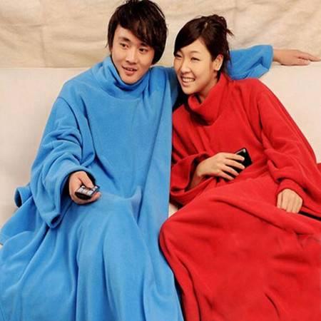 加厚冬袖毯多用途懒人毯加厚保暖沙发毯有袖毛毯懒人被子毯 蓝色