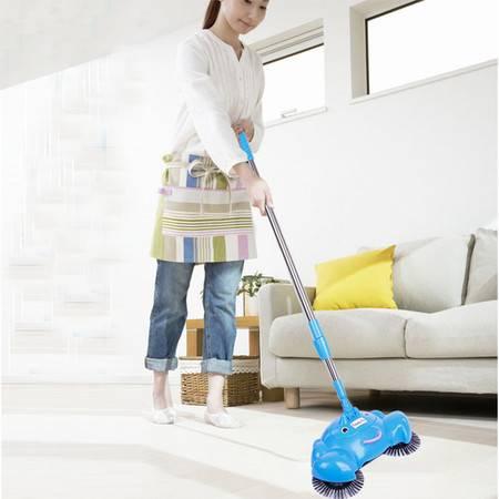 手推式扫地机不用电吸尘器 家用地板清洁器 手动洁地机懒人扫把扫把簸箕组合套装 扫拖二合一 家用扫帚笤