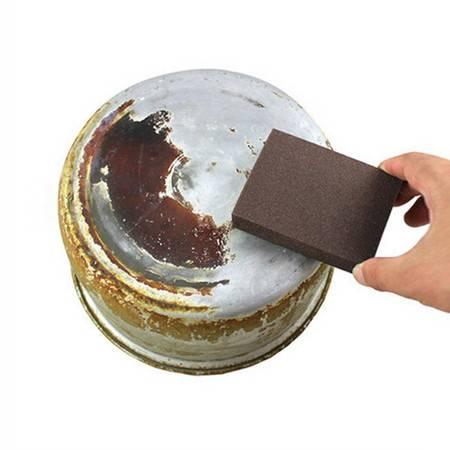 10片装金刚砂魔力擦锅刷神奇海绵块去焦去顽固污渍擦锅海绵擦