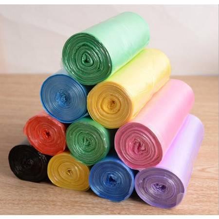 欧美洁 新料中号垃圾袋卷装清洁袋厨房办公室塑料袋100只装*10套