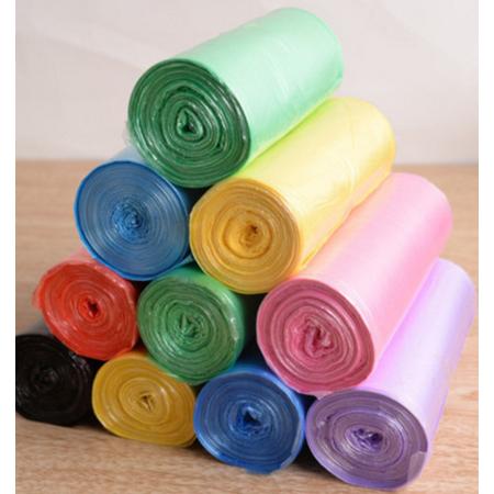 欧美洁 塑料袋 包邮颜色随机 加厚家用彩色点断式垃圾袋120只每包