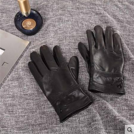 金丝莉 羊皮手套冬季皮手套男女皮手套  均码