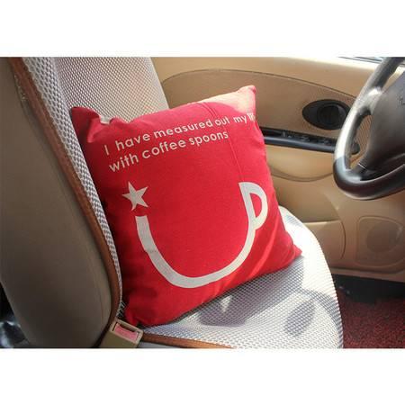 卡饰得 复古亚麻靠垫含芯 沙发抱枕 卡通靠枕 45*45cm 套子+内芯